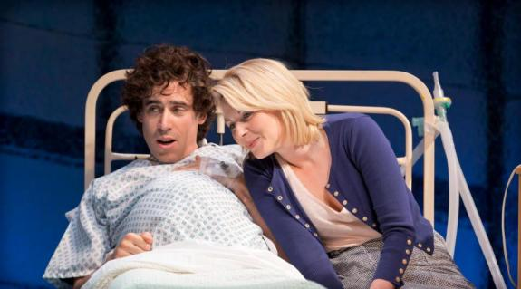 Expected parents Ed (Stephen Mangan) and Lisa (Lisa Dillion)